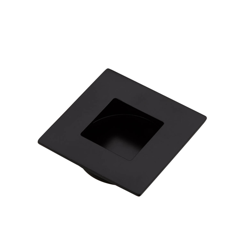 black flush handle 50mm square