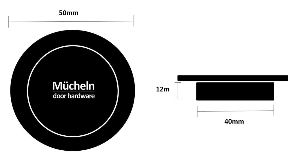 brass flush handle 50mm dimensions