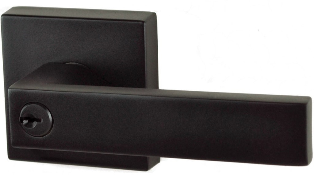 Lonsdale Square Black Key In Lever Entrance Set Hardware Box