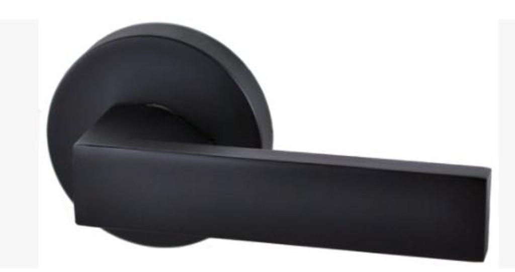 lonsdale round black door handle