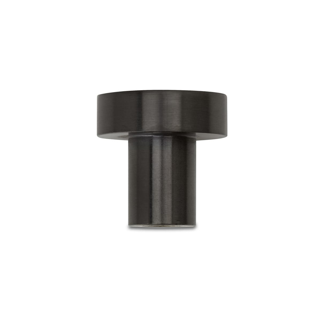 gunmetal 25mm pull knob side