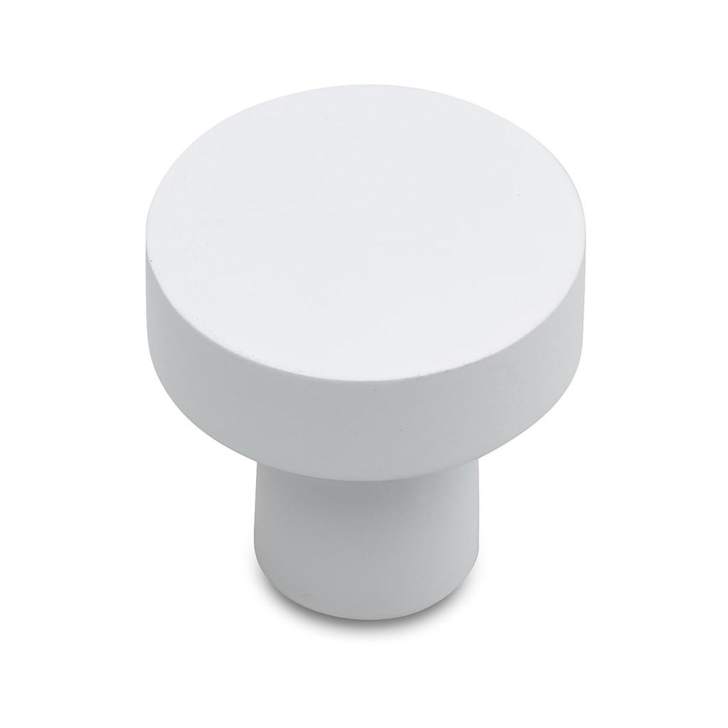 white 25mm pull knob