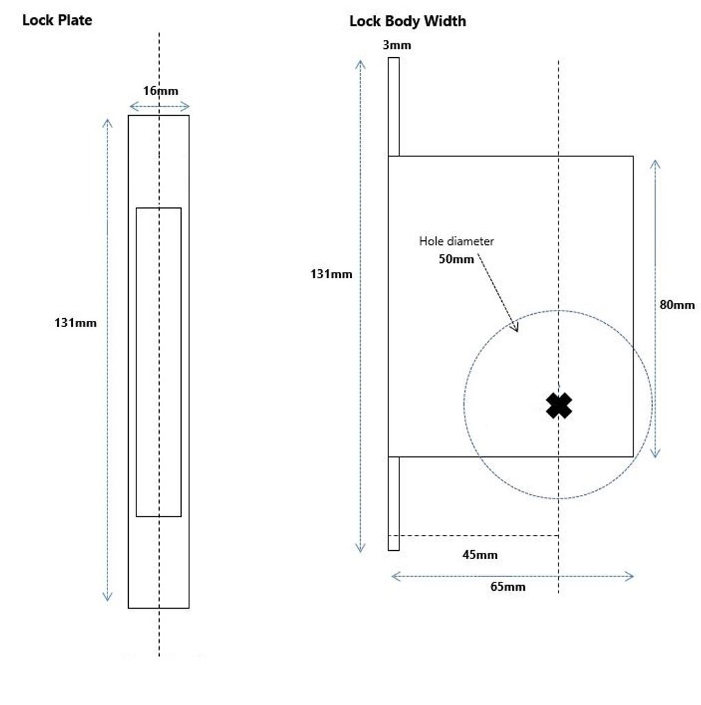 cavity slider dimensions 2