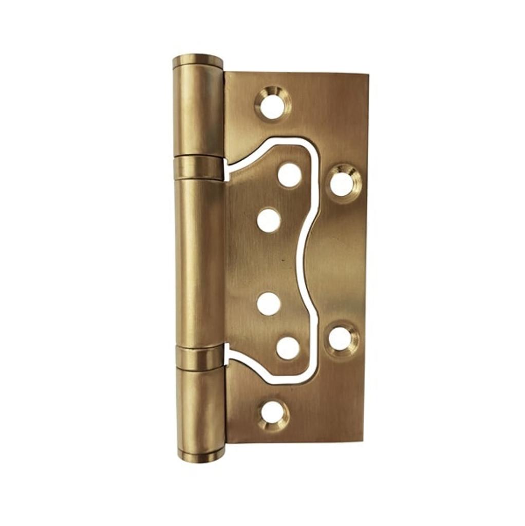 brass door hinge 75 x 100 hirline flush