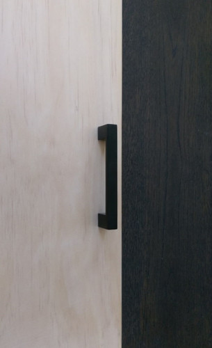 Matte Black Cupboard Handle 96mm Hardware Box