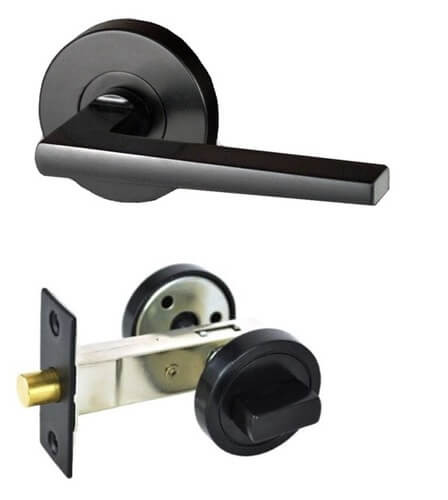Nidus Marino black door handle round privacy