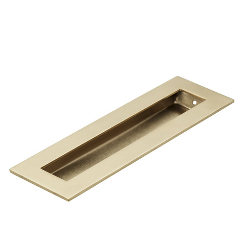 Brass 200mm flush door handle