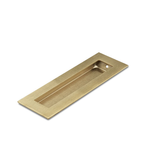 Brass Flush Pull Handle 150mm Rectangle