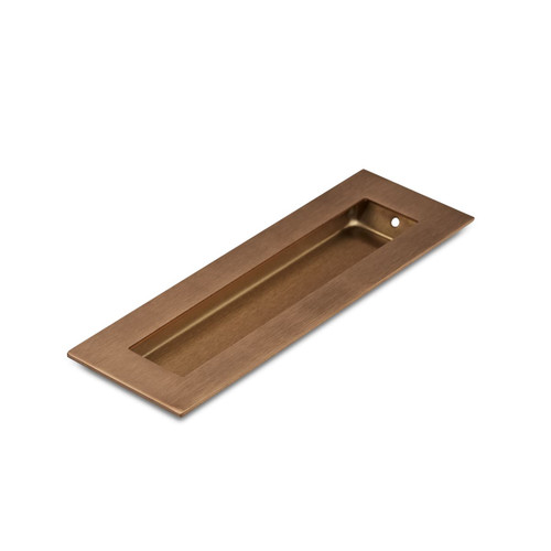 Brushed Copper Flush Pull Handle 150mm Rectangle