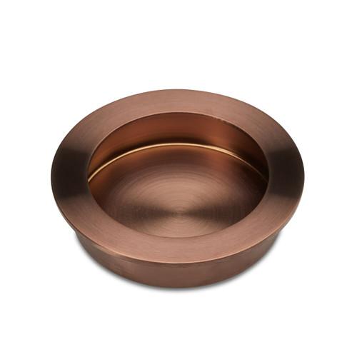 Brushed Copper Flush Pull Handle 70mm side