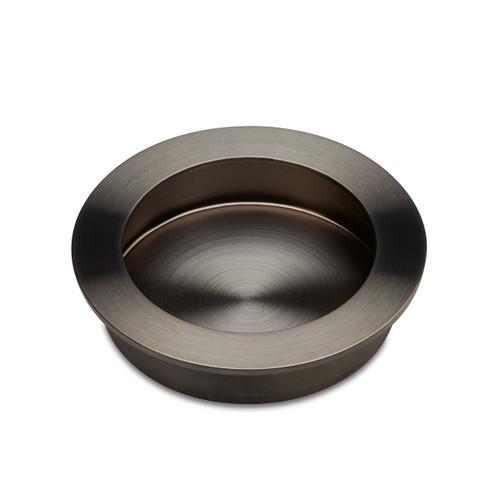 gunmetal Flush Pull Handle 70mm side