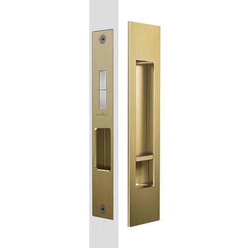 Mardeco brass sliding door flush pull set privacy