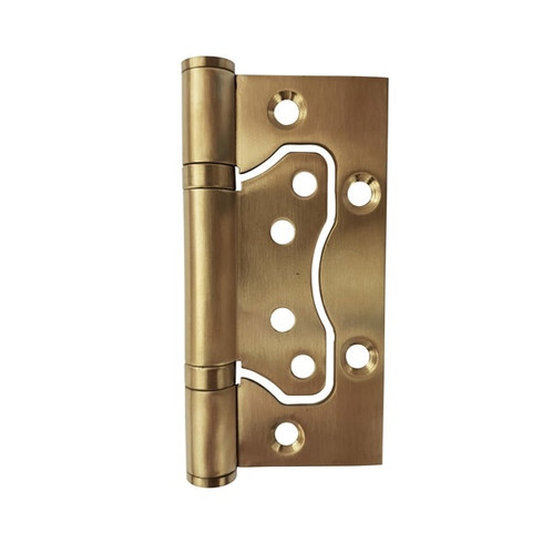 brass door hinge 75 x 100 hirline flush