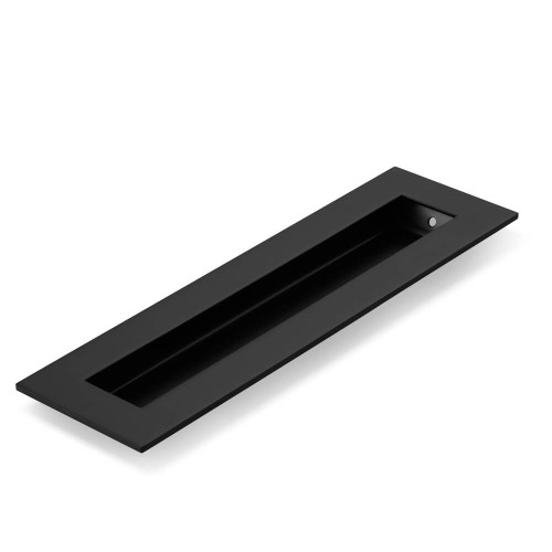 Matte Black Flush Pull Rectangle Handle 200mm Hardware Box
