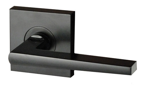 Nidus Black Door Handle Passage I Square I 63mm Hardware Box