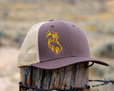 Bucking Horse Edge Low Profile -Brown and Gold