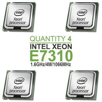 Qty 4 | Intel Xeon E7310 Quad Core Processors 1.6GHz/4M/1066MHz
