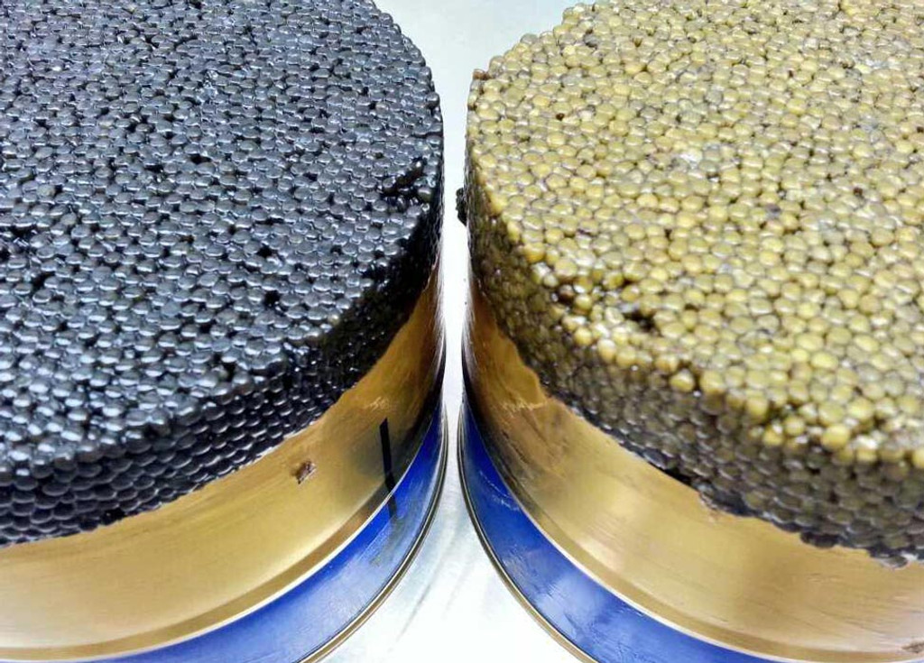 How is the quality of caviar graded?