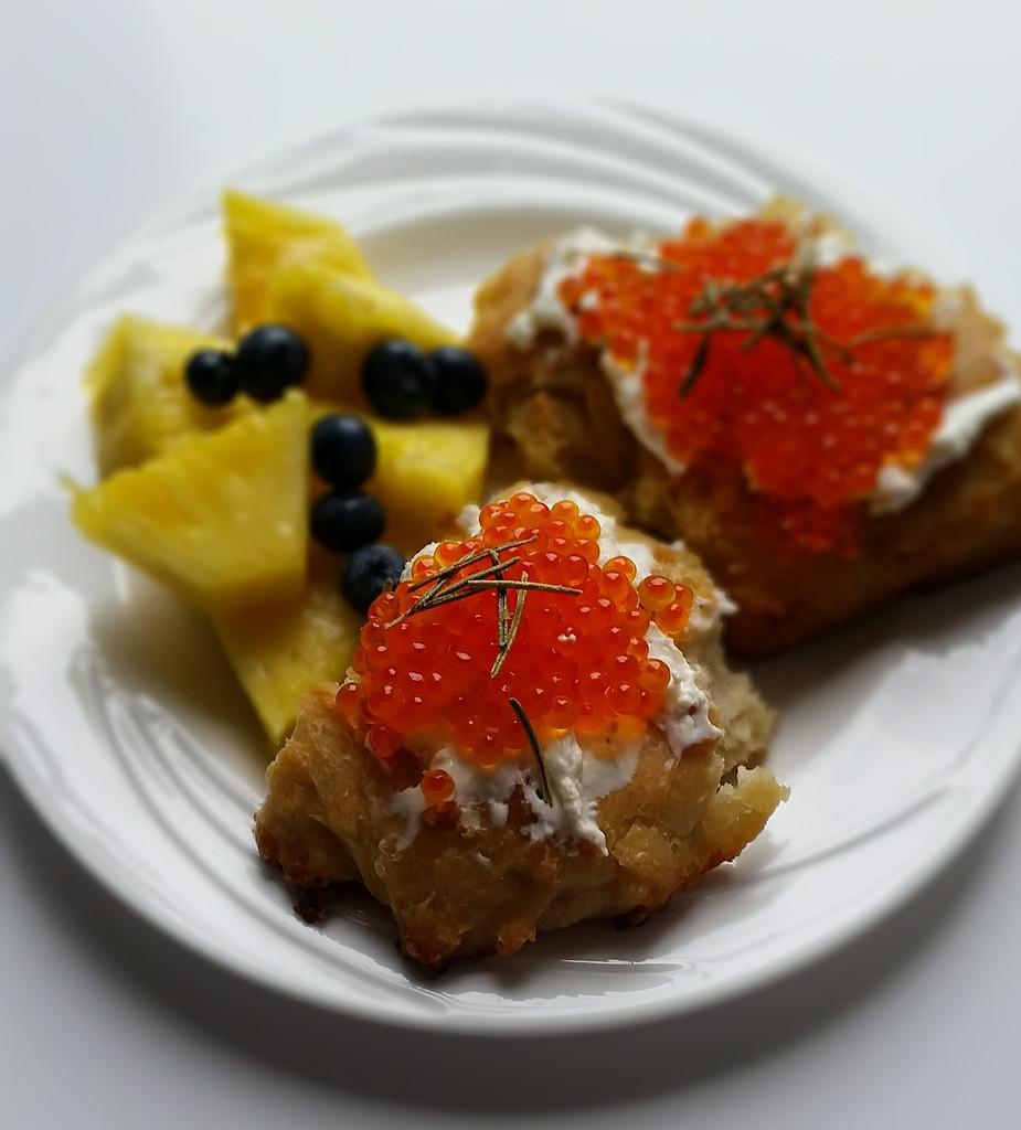 Caviar Recipes - Smoked Trout Caviar Focaccia