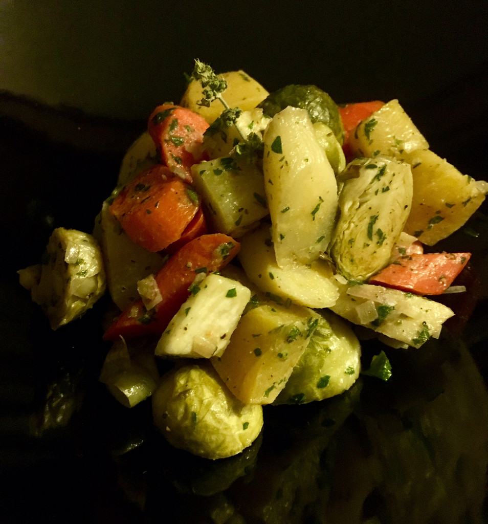 Caviar Recipes - Roasted Root Vegetables with White Balsamic Vinaigrette