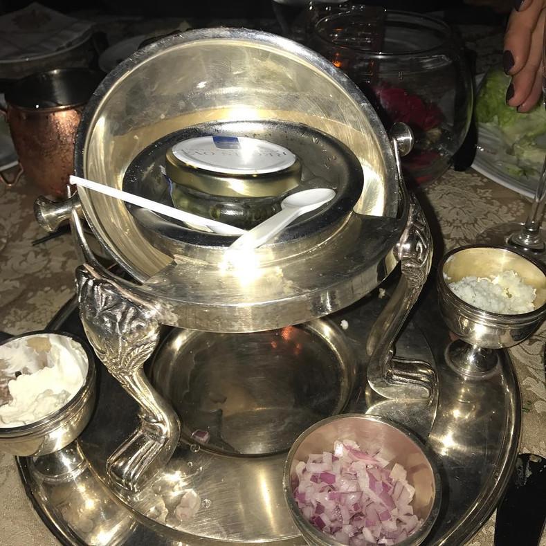 Mar-a-Lago serves caviar on plastic spoons