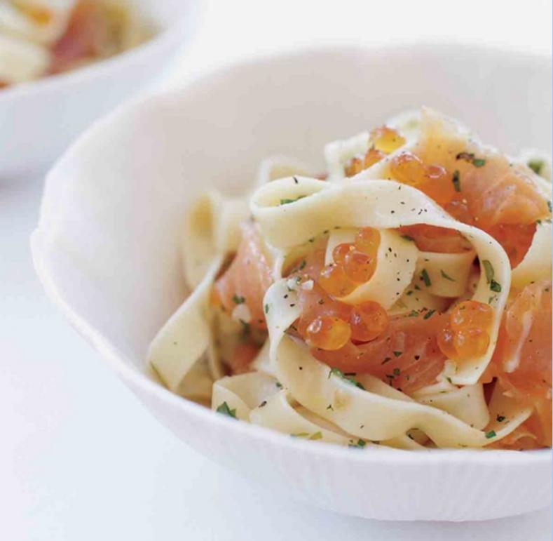 Caviar Recipes - Pasta with Salmon Caviar