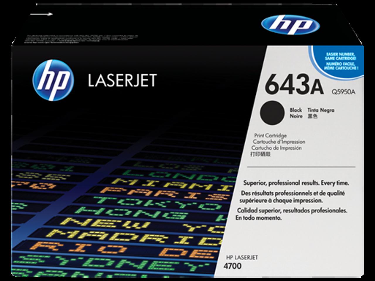 HP 4700 643a Black Toner Cartridge - New