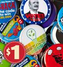 Sample Pack Custom Made Promotional Badges