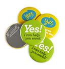 Sample Pack Magnet Fastener Badges