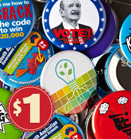 Sample Pack Custom Made Promotional Badges