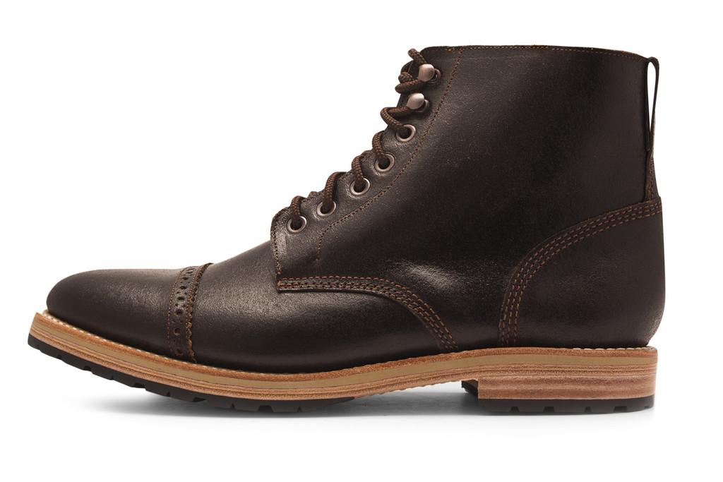 DARK BROWN WAXED FLESH FOOTWEAR