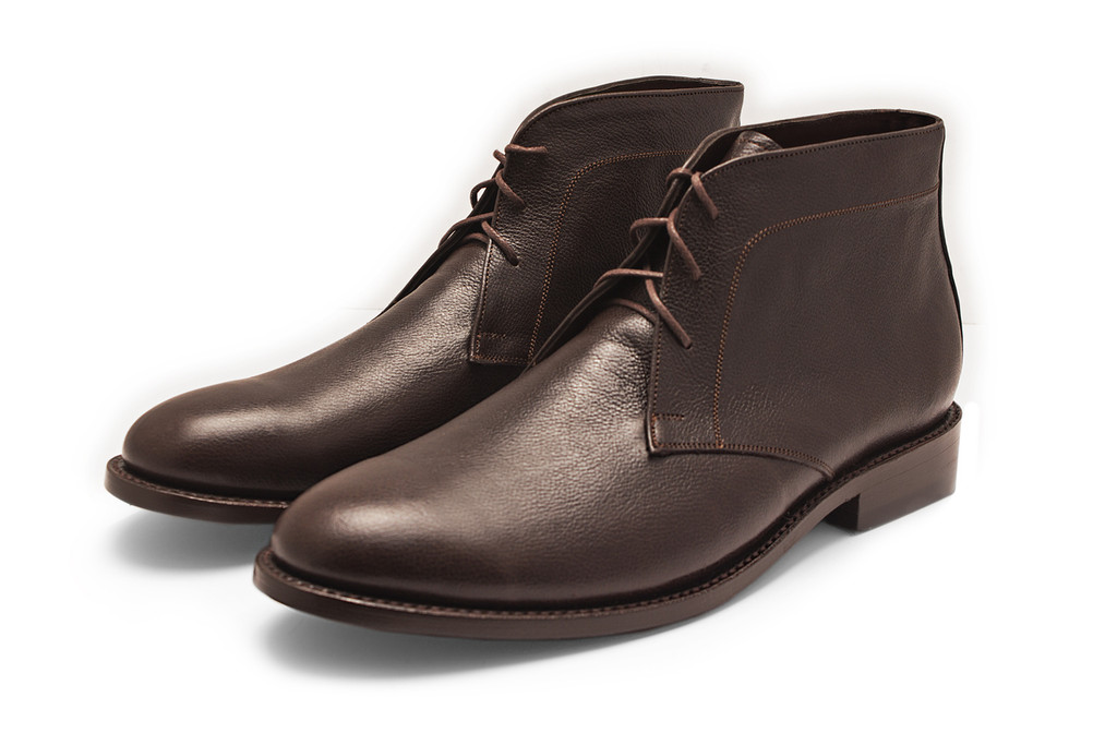 HARLOW BROWN PEBBLE GRAIN CHUKKA BOOT
