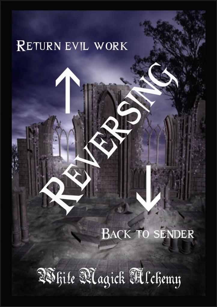 Reversing Ritual Spell Jar Vigil Candle . Return Evil Work Back to Sender