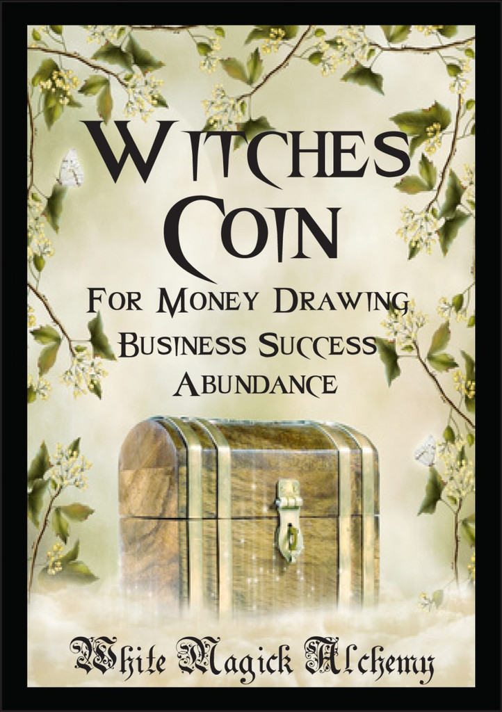 Witches Coin Ritual Spell Jar Vigil Candle . Money, Prosperity, Business Success and Abundance