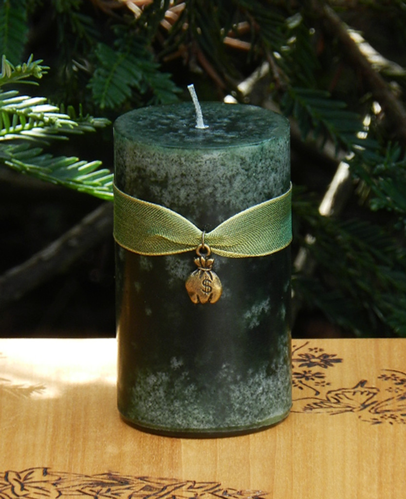 Money Drawing Spell Candles for Money, Prosperity, Business Success and Abundance