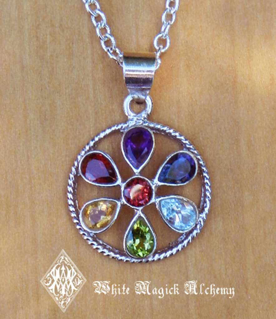 Sterling silver gemstone tear drop pendant chakra sterling silver gemstone tear drop pendant mozeypictures Gallery