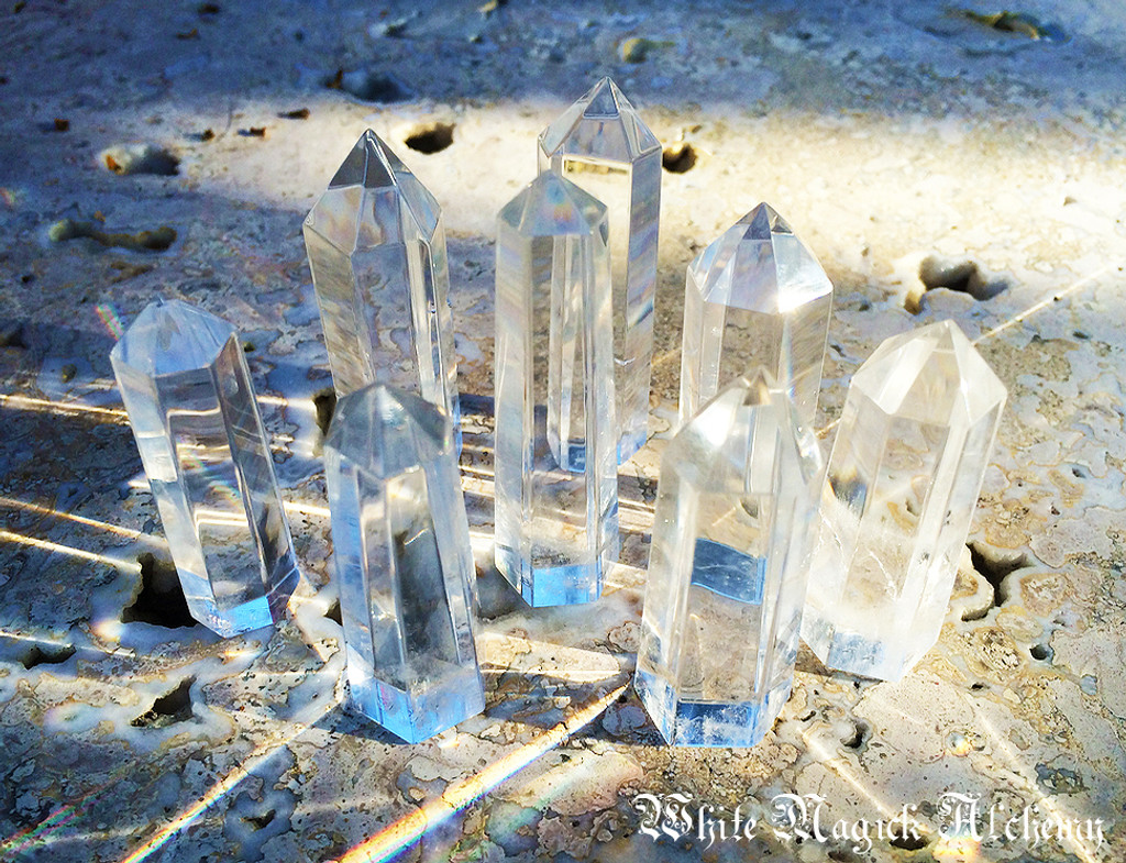 Crystal Quartz Generator Standing Points