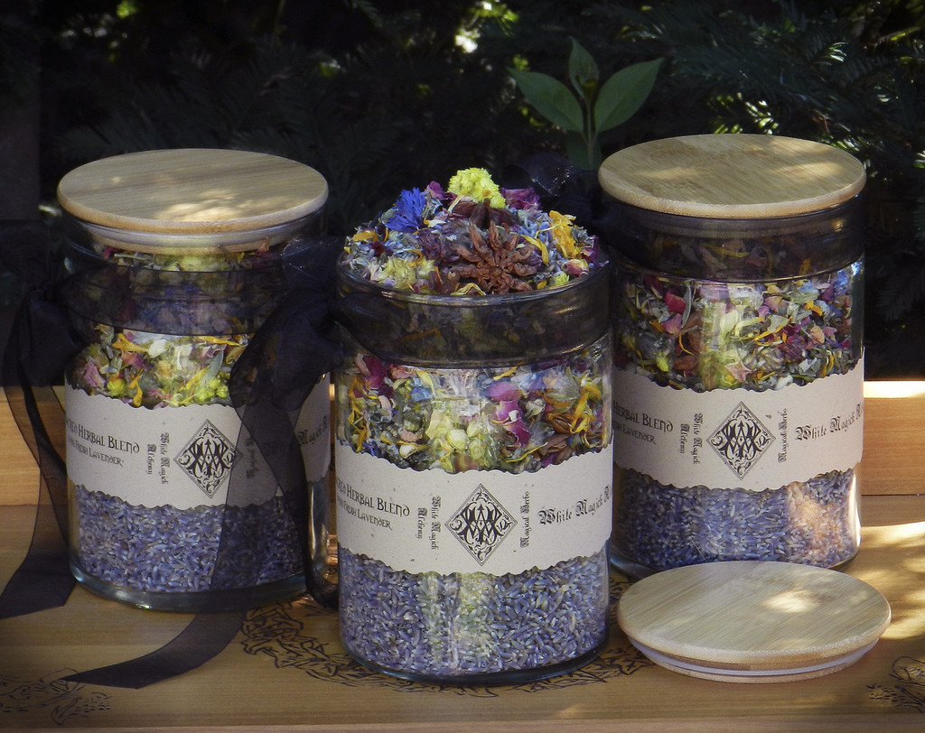 Sacred Daily Herbal Blend . A Fresh Blend of Herbs, Flowers, Woods & More Crafted Daily at our Shop - With Fresh Sonoma Lavender
