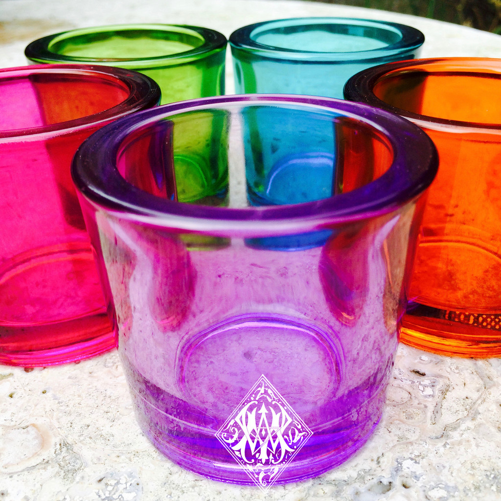 Glass Votive Candle Cups . Premium Recycled Heavy Duty Glass