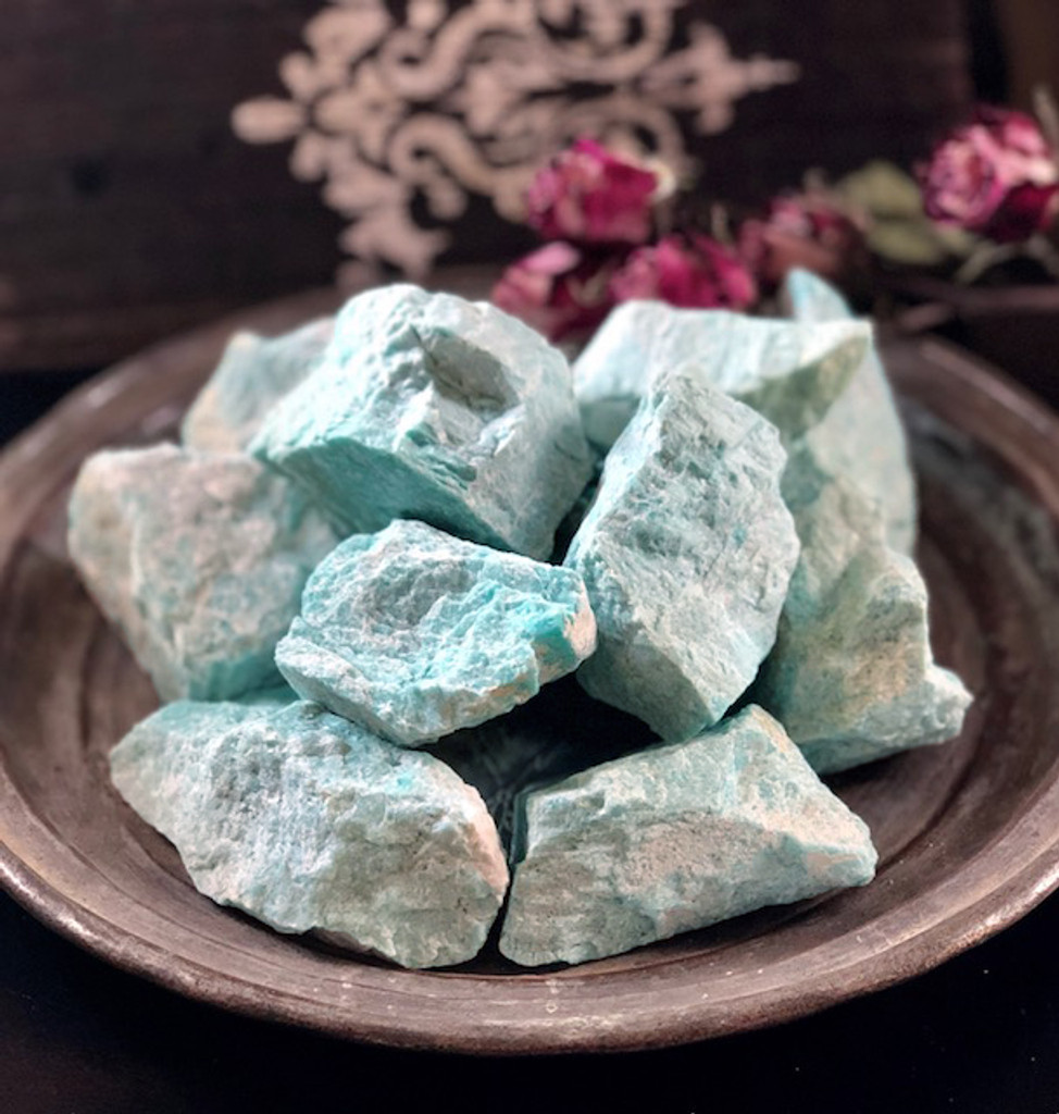 Amazonite Raw Gemstones for Strength, Courage, Success, Love, Money, Divine Power & Balance