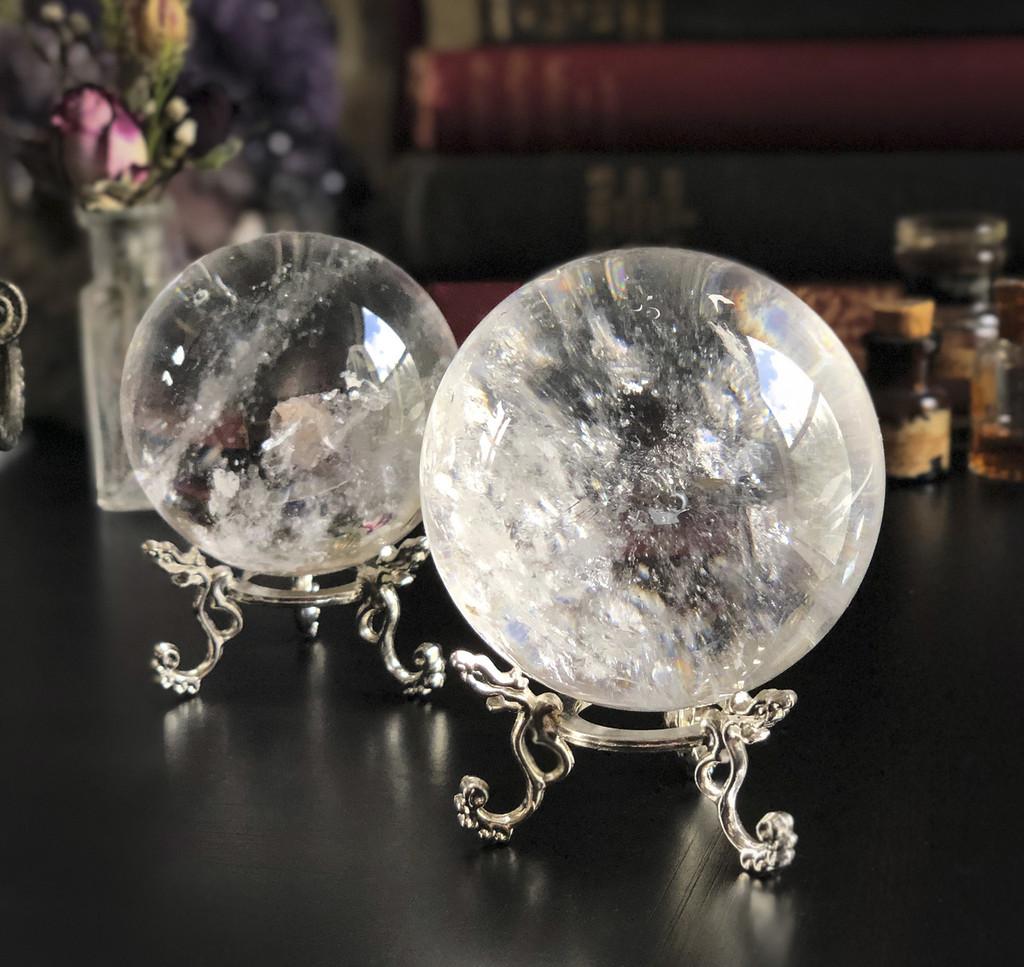 Quartz Sphere Crystal Balls - Radiate all Colors within the Spectrum of Light