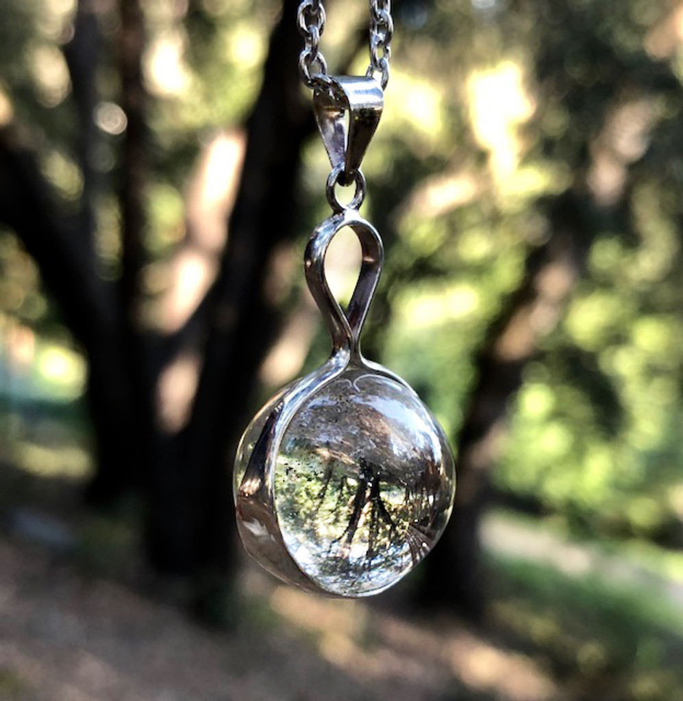 Crystal scrying ball pendants in sterling silver quartz crystal scrying ball pendants in sterling silver aloadofball Image collections