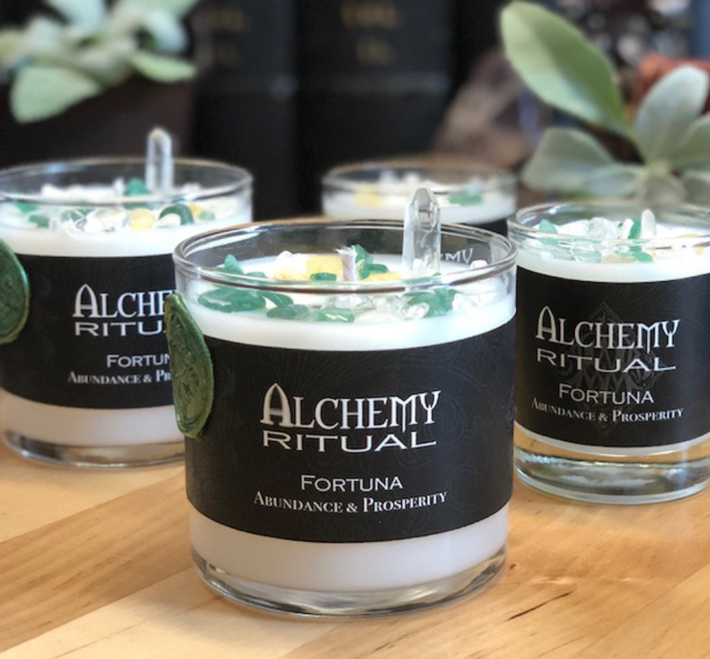 Fortuna - Alchemy Ritual Candles for Abundance & Prosperity