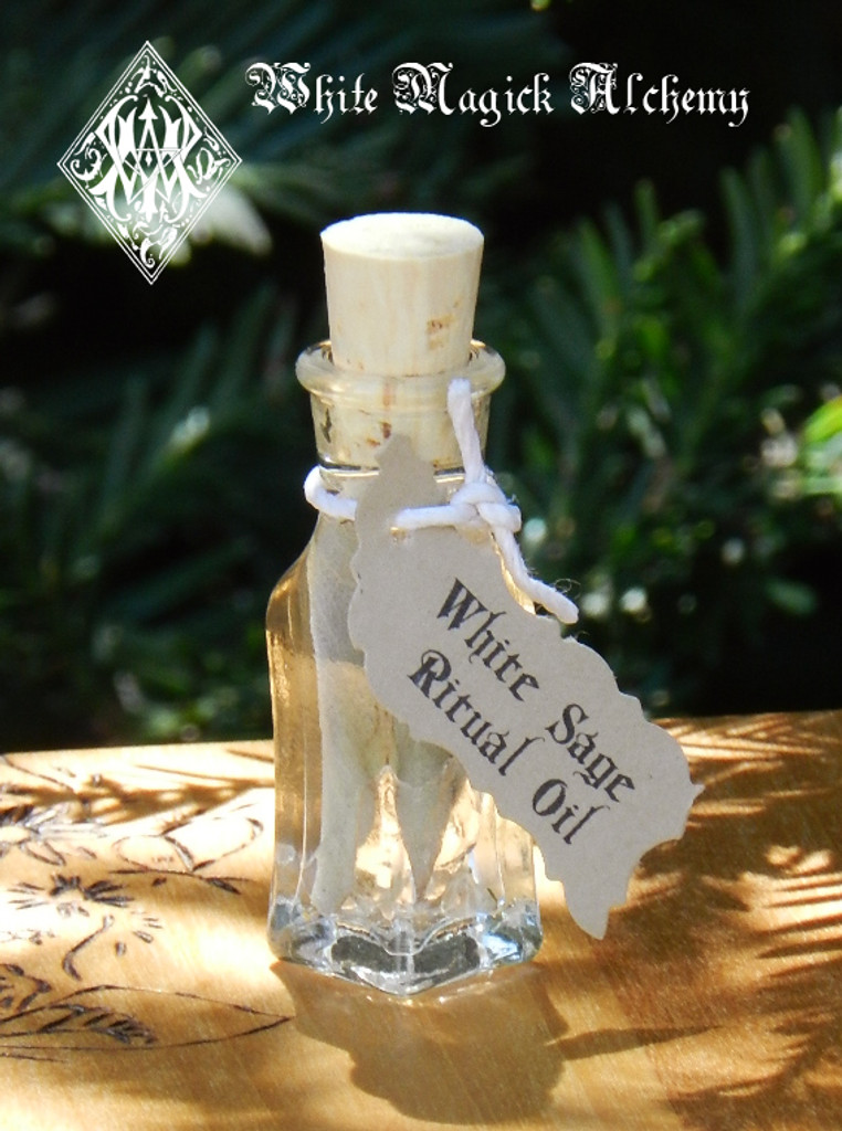 White Sage Oil for Purification, Healing, Wisdom, Immortality, Clearing & Banishing