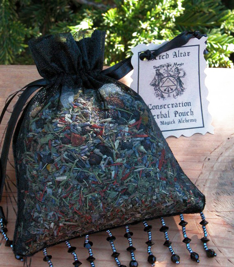 Crystal Consecration Herbal Pouch . For Consecrating and Enhancing Magickal Energy to your Crystals, Jewelry and More