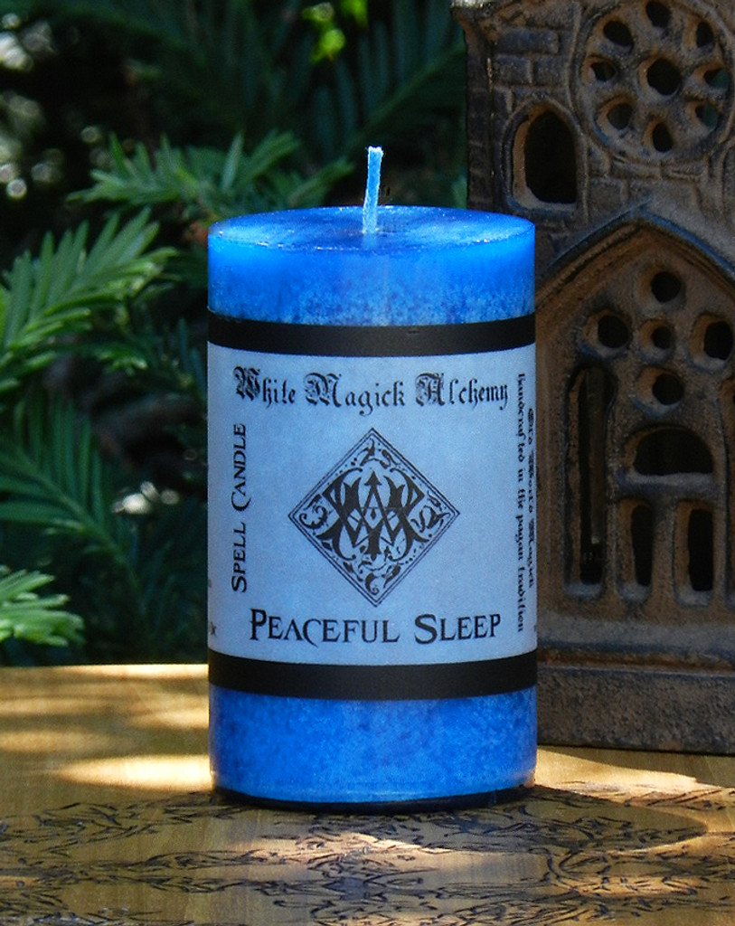 PEACEFUL SLEEP Spell Candle . Bring Peace and Serenity for Restful Sleep