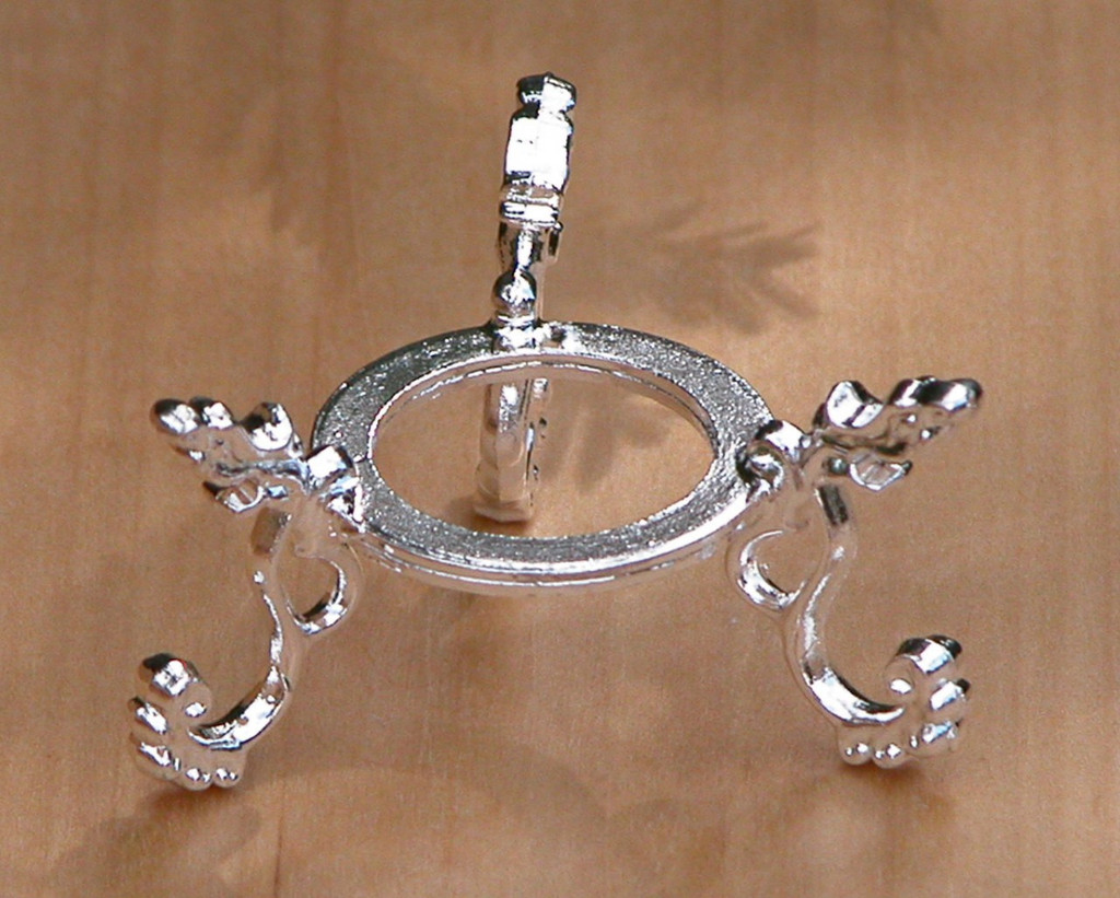 Silver Plated Crystal Stand ~ For Gemstone Spheres