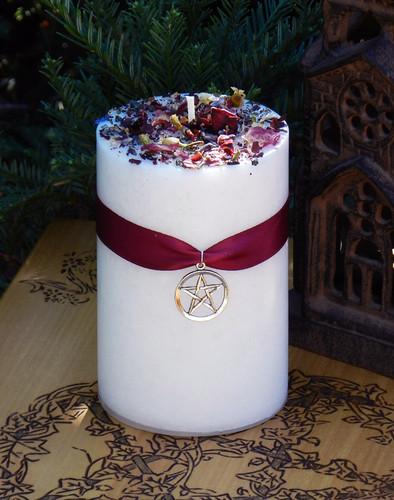 White Magick Alchemy Candles for Transcendental White Magic, Goddess, White Light
