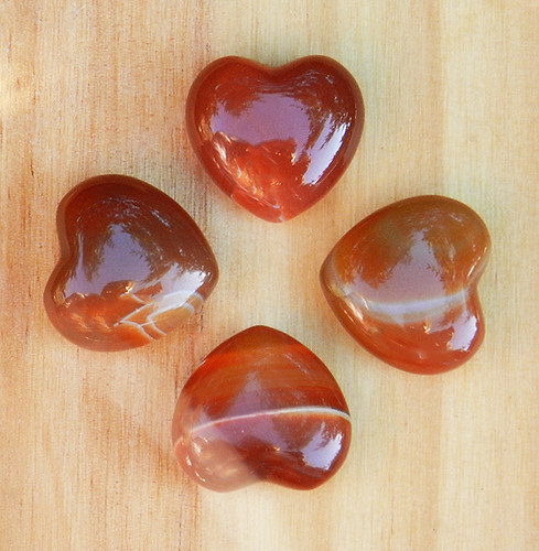 Carnelian Gemstone Heart . Protection, Peace, Healing, Courage, Nature Workings