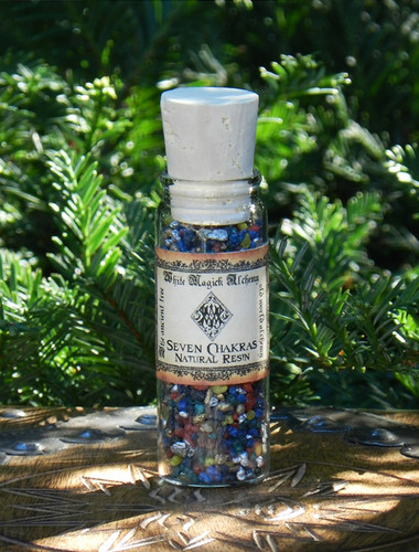 Seven Chakras All Natural Resin Incense Blend